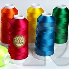 Нитки для машинной вышивки из Полиэстера Crown-tex