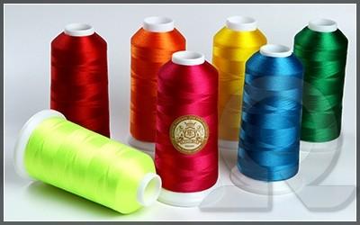 Нитки для машинной вышивки, полиэстер, Crown-tex
