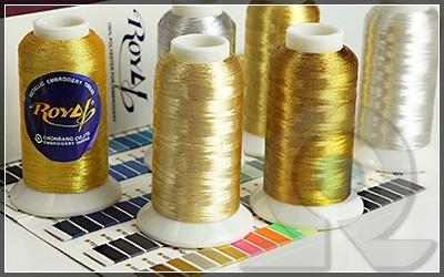 Нитки для машинной вышивки, Royal, Металлизированные