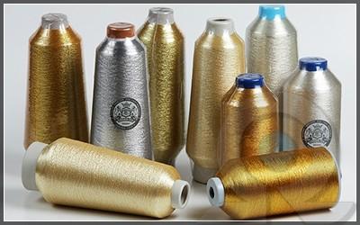 Нитки для машинной вышивки, Crown-tex, Металлизированные