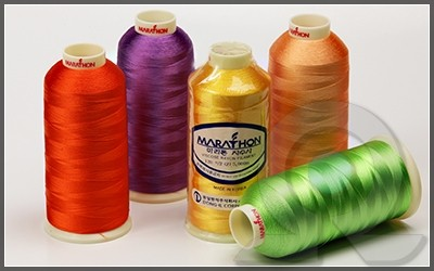 Нитки для машинной вышивки, Marathon, Вискоза
